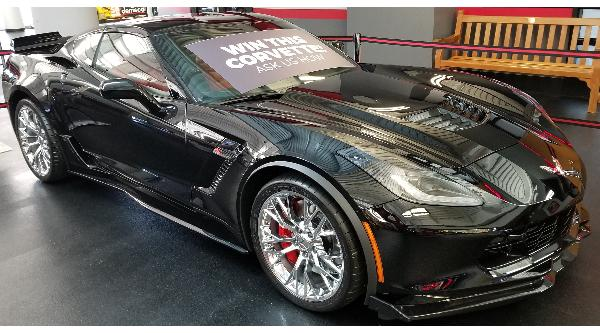 2019 Black Corvette Z06 Coupe 1/23/20